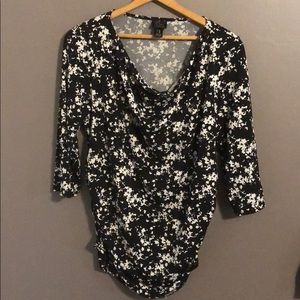 Oh baby maternity motherhood blouse top floral L